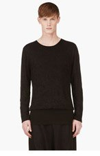 D.GNAK BY KANG.G Black Layered Overlong T-Shirt for men