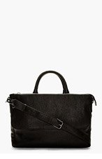 MARC BY MARC JACOBS Black Leather Robbie G Messenger Bag for men