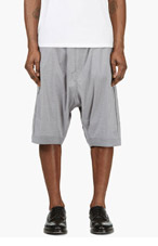 Y-3 Grey Sarouel Shorts for men