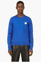 KENZO Blue Knit Crewneck Sweater for men