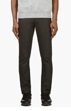 BELSTAFF Black coated EARLHAN JEANS for men