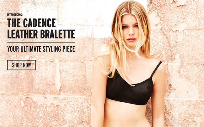 the cadence leather bralette | shop now