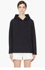 A.P.C. Navy Leopard Print Hoodie for women