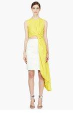 ROKSANDA ILINCIC Yellow Draped Colorblock Layton Dress for women