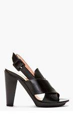 ROBERT CLERGERIE Black Xali Slingback heels for women