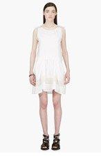 3.1 PHILLIP LIM White Silk Organza-trimmed Layered Umbrella Dress for women