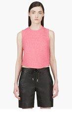 3.1 PHILLIP LIM Pink Chenille Sleeveless Sweater for women