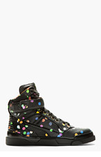 GIVENCHY Black CONFETTI PRINT TYSON SNEAKERS for women