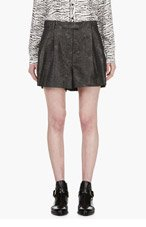3.1 PHILLIP LIM Grey Marble Jacquard Shorts for women