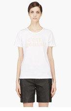 A.P.C. White C'est Genial T Shirt for women