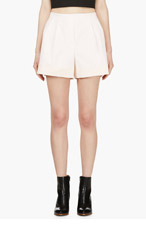 3.1 PHILLIP LIM Blush pink Cotton Pleated shorts for women
