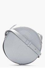 MM6 MAISON MARTIN MARGIELA Grey buffed Leather Cross-Body Circle Bag for women