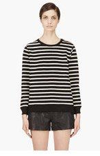A.P.C. Black & Ecru Striped Mariner Sweater for women