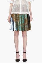 3.1 PHILLIP LIM Camel Suede Cracked Foil Skirt for women