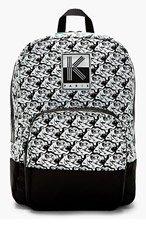 KENZO White & Black Tiger Print Backpack for women