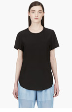 3.1 PHILLIP LIM Black Silk Vented Blouse for women