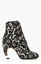 GIVENCHY Black Lace Ankle Boots for women
