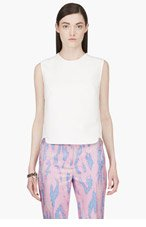 3.1 PHILLIP LIM Ivory Leather Whipstitched Tank top for women