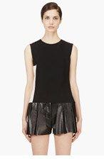 ROKSANDA ILINCIC Black Silk Aspley Tank Top for women