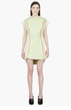 3.1 PHILLIP LIM Fluorescent Green Mesh & Crystral Abstract Vine Dress for women
