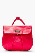 MARC BY MARC JACOBS Fuchsia Leather Backpack for women