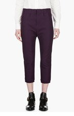MARNI Plum Cropped Trousers for women