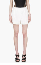 3.1 PHILLIP LIM White Silk Trim Shorts for women