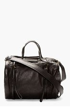 MARC BY MARC JACOBS Black Leather Moto Duffle Bag for women