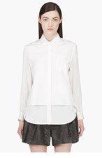 3.1 PHILLIP LIM White Silk & Poplin Blouse for women