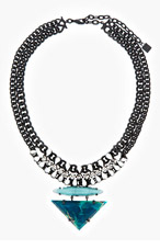 DANNIJO Turquoise & Black Leona Necklace for women