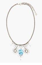 DANNIJO Silver & Blue Agnes Necklace for women