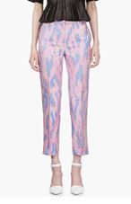 3.1 PHILLIP LIM Pink Oversize Snake Print Trousers for women