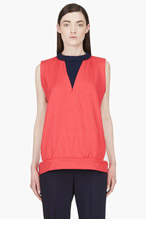 MARNI EDITION Raspberry Red Boxy Tank Top for women