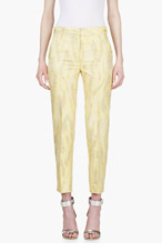 3.1 PHILLIP LIM Yellow Oversize Snake Print Trousers for women