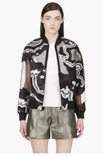 3.1 PHILLIP LIM Black Semi-sheer Geode Embroidered Souvenir Jacket for women