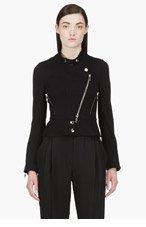 CHLOE Black Wool Moto Jacket for women