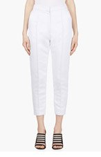 ROKSANDA ILINCIC Pale Lavender Cropped Hedworth Trousers for women