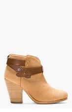 RAG & BONE Camel Nubuck Harrow Ankle Boots for women