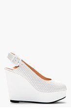 ROBERT CLERGERIE White Bustyma Platform Wedges for women