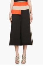 ROKSANDA ILINCIC Black Cropped Wide-Leg Hepworth Trousers for women