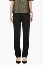 LANVIN Black Piped Lounge Pants for women