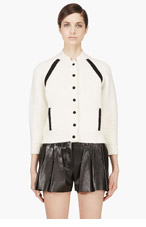 3.1 PHILLIP LIM Ivory Chenille Cardigan for women