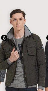 nylon quilt jacket