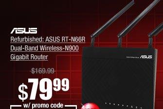 Refurbished: ASUS RT-N66R Dual-Band Wireless-N900 Gigabit Router