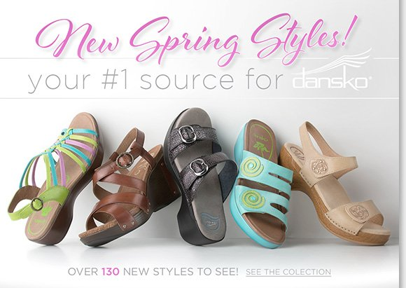 New Spring Styles from Dansko! Shop over 130 NEW Dansko arrivals, including new colors of the most popular Professional and ProfessionalXP.  Plus, find great styles from UGG® Australia, Raffini, ABEO, and more of your favorite brands! Shop now to find the best selection online and in stores at The Walking Company.