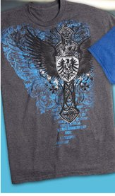 Steel Wings Heraldic Screen Tee