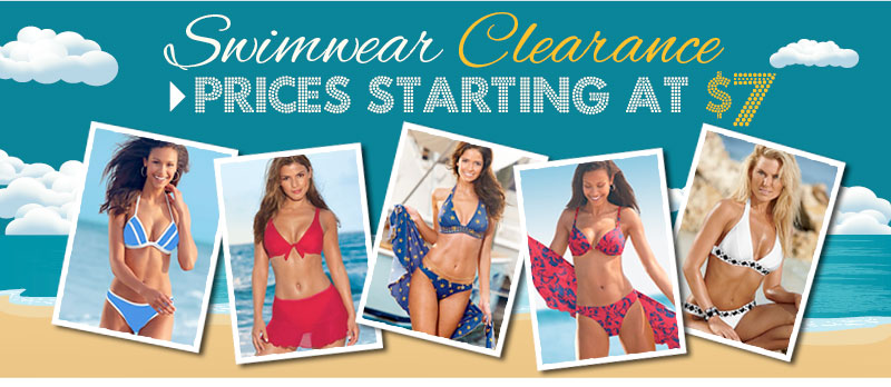 SHOP Swimwear Clearance! Prices starting at just $7