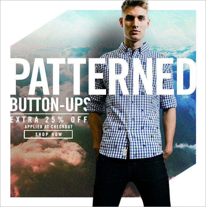 Shop Extra 25% Off: Patterned Button-Ups