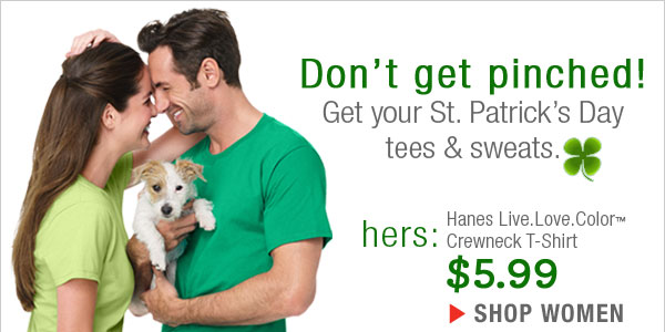 Get your St. Patrick's Day T-Shirts For Her as low as $5.99