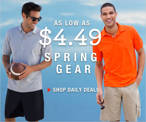 Shop Spring Gear as low as $4.49